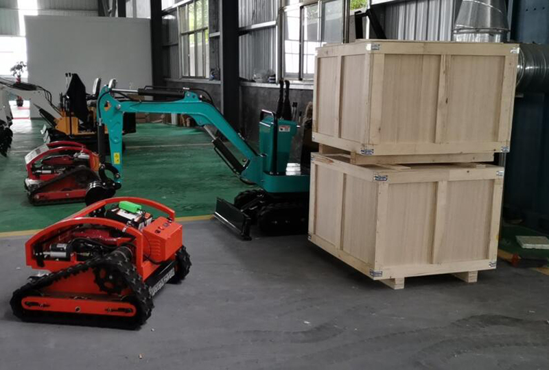Two remote control lawn mowers sent to Sweden